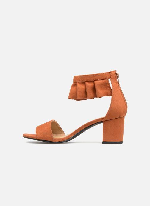 Sandales et nu-pieds Vero Moda Fab Sandal Marron vue face