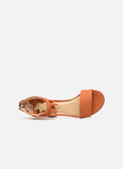 Sandals Vero Moda Fab Sandal Brown view from the left