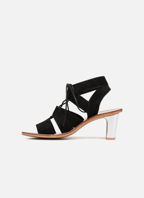 Sandales et nu-pieds Vanessa Wu Sandales ajourées à talons Noir vue face