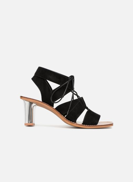 Sandales et nu-pieds Vanessa Wu Sandales ajourées à talons Noir vue derrière