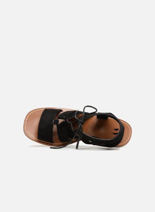 Sandales et nu-pieds Vanessa Wu Sandales ajourées à talons Noir vue gauche