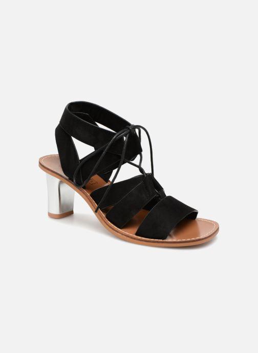 Sandales et nu-pieds Vanessa Wu Sandales ajourées à talons Noir vue détail/paire