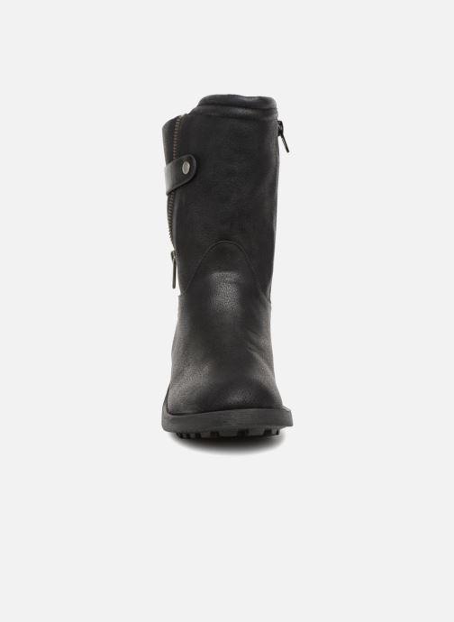 Stivaletti e tronchetti Vanessa Wu Biker Boots Noires Nero modello indossato