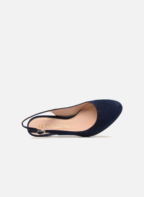Sandales et nu-pieds Unisa NUCLEO Bleu vue gauche