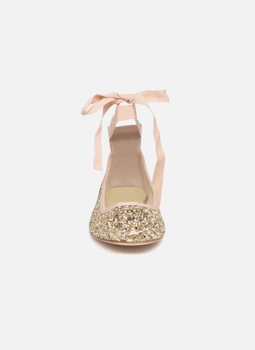 Ballerines Anniel 1869F LAMG Or et bronze vue portées chaussures