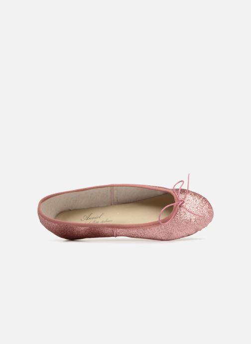 Ballerines Anniel 1797 LAMF Rose vue gauche