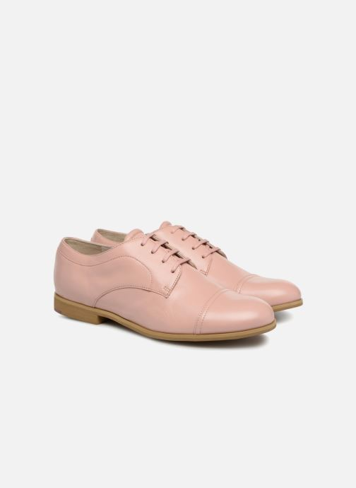 Chaussures à lacets Jil Sander Navy JN28089 Rose vue 3/4