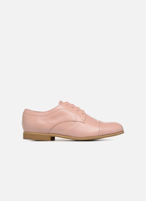 Chaussures à lacets Jil Sander Navy JN28089 Rose vue derrière
