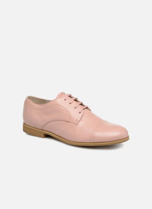 Chaussures à lacets Jil Sander Navy JN28089 Rose vue détail/paire
