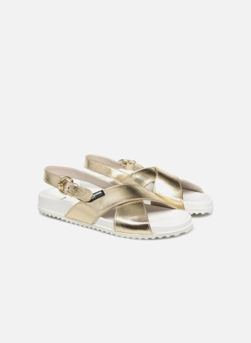 Sandales et nu-pieds Jil Sander Navy JN28095 Or et bronze vue 3/4