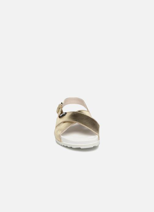 Sandales et nu-pieds Jil Sander Navy JN28095 Or et bronze vue portées chaussures