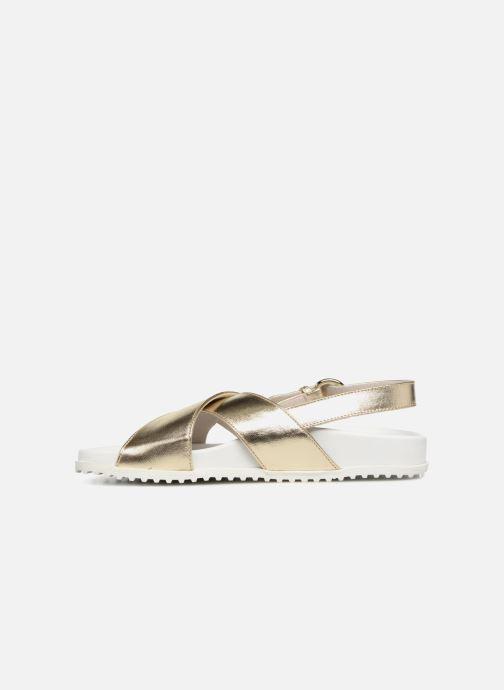 Sandales et nu-pieds Jil Sander Navy JN28095 Or et bronze vue face