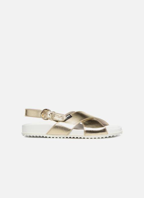 Sandales et nu-pieds Jil Sander Navy JN28095 Or et bronze vue derrière