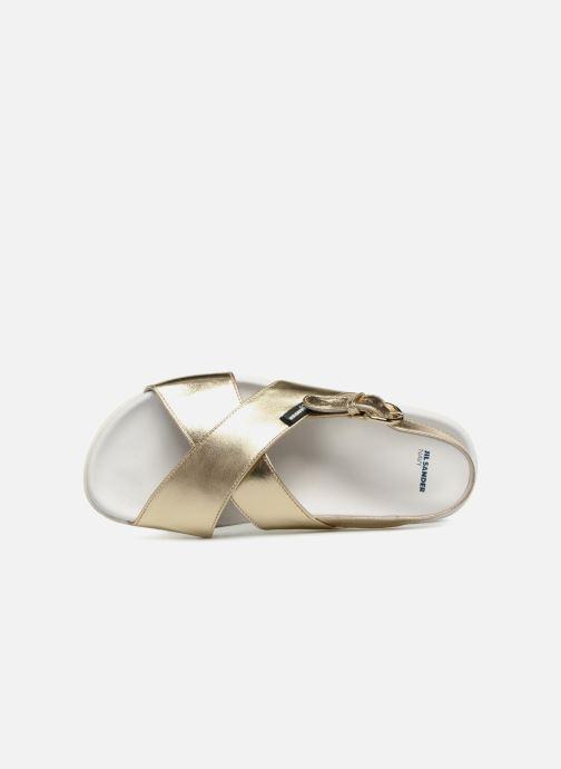 Sandales et nu-pieds Jil Sander Navy JN28095 Or et bronze vue gauche