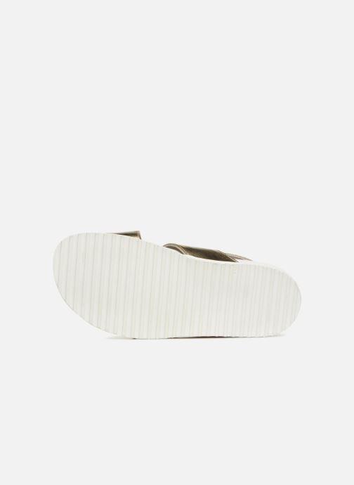 Sandales et nu-pieds Jil Sander Navy JN28095 Or et bronze vue haut