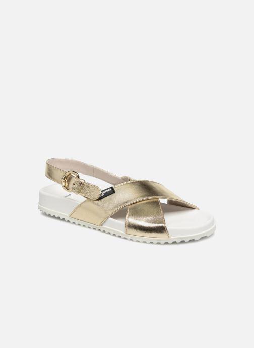 Sandales et nu-pieds Jil Sander Navy JN28095 Or et bronze vue détail/paire