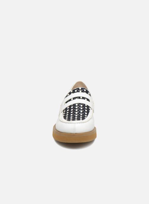 Mocassins Jil Sander Navy JN28091 Blanc vue portées chaussures