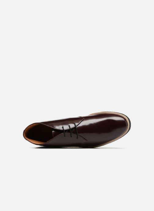 Zapatos con cordones Emma Go CREPE Vino vista lateral izquierda