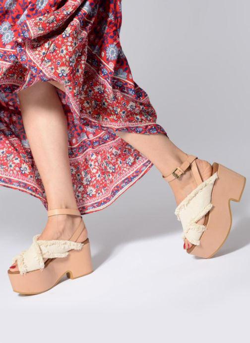 Sandales et nu-pieds See by Chloé SB28092 Blanc vue bas / vue portée sac