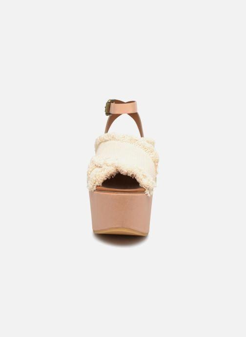 Sandales et nu-pieds See by Chloé SB28092 Blanc vue portées chaussures