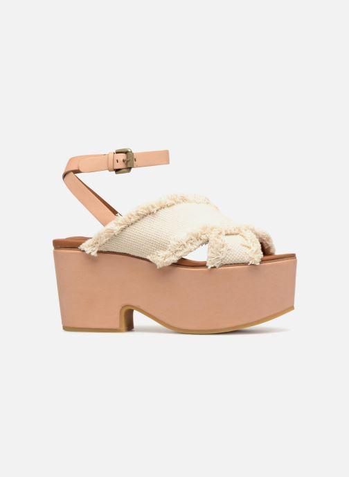 Sandales et nu-pieds See by Chloé SB28092 Blanc vue derrière