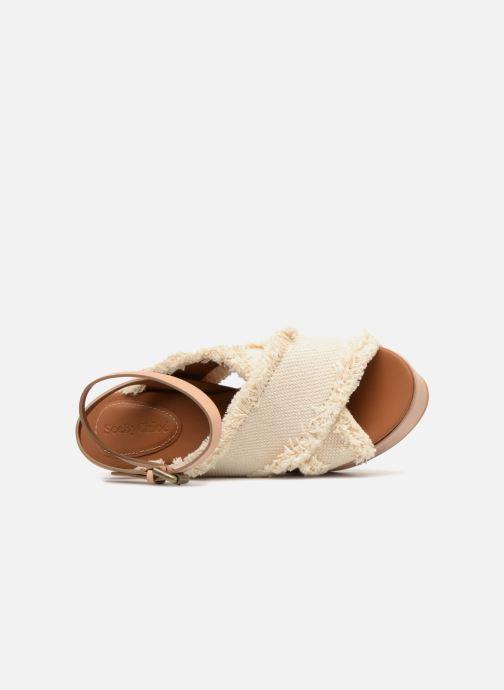 Sandales et nu-pieds See by Chloé SB28092 Blanc vue gauche