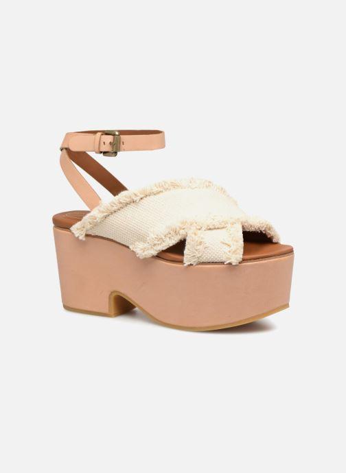 Sandaler See by Chloé SB28092 Hvid detaljeret billede af skoene
