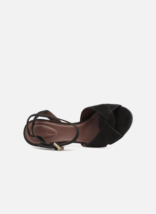 Sandales et nu-pieds See by Chloé SB29132 Noir vue gauche