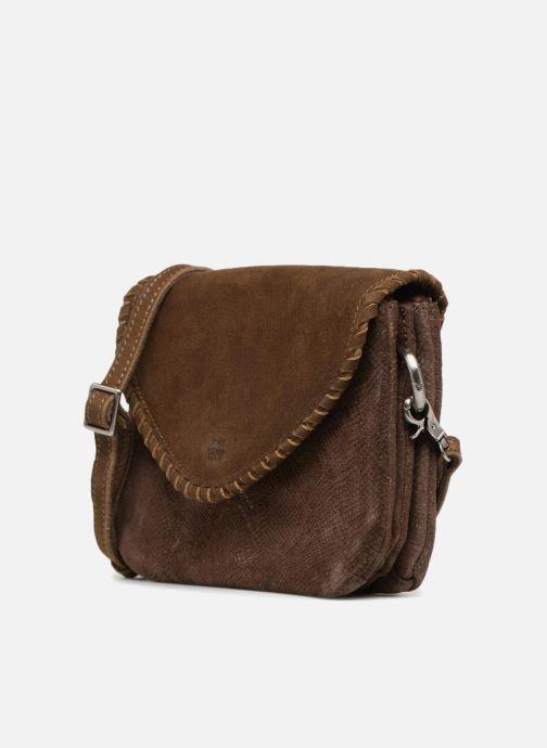 Handtaschen Mila Louise 3272CR-47 braun schuhe getragen