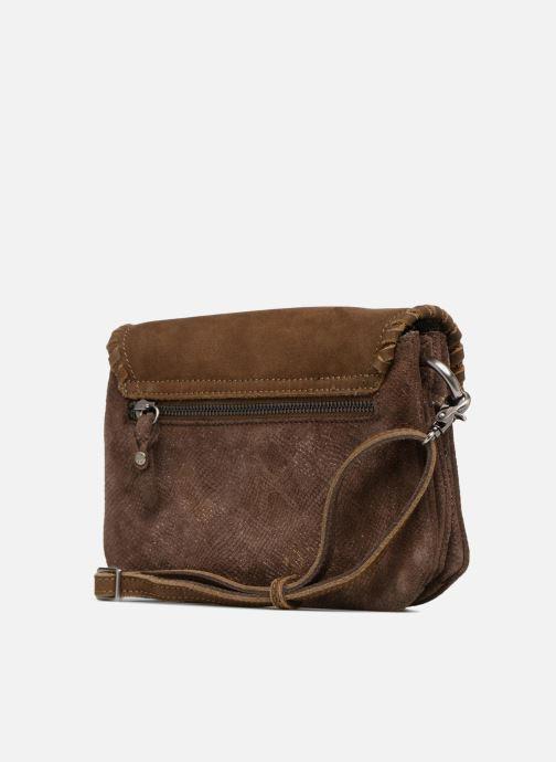 Handtaschen Mila Louise 3272CR-47 braun ansicht von rechts