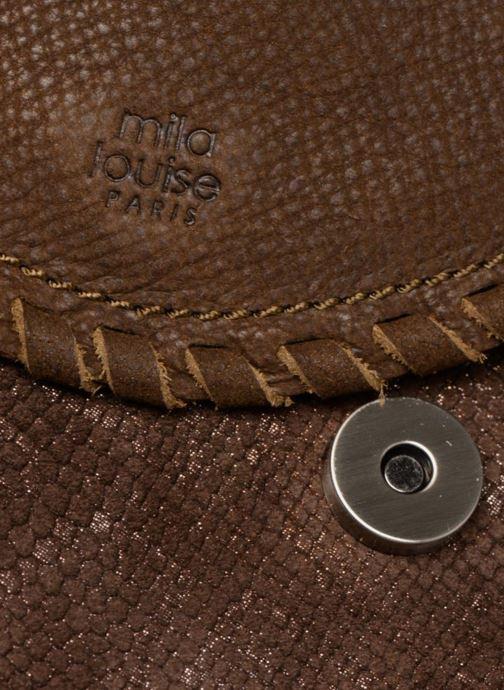 Handtaschen Mila Louise 3272CR-47 braun ansicht von links