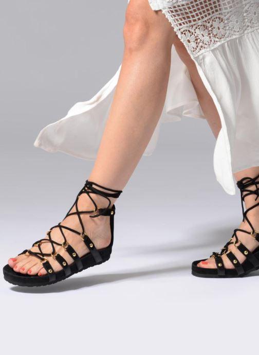 Sandalen Swildens QOOK schwarz ansicht von unten / tasche getragen