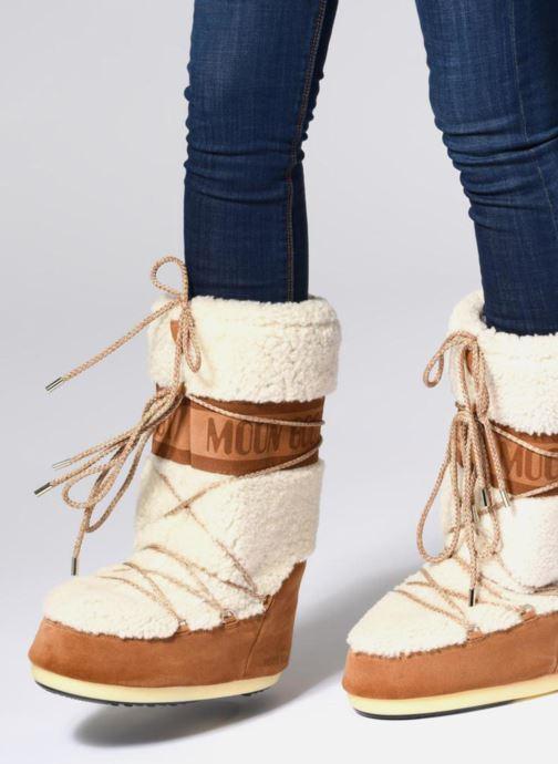 Chaussures de sport Moon Boot Moon Boot Wool Blanc vue bas / vue portée sac