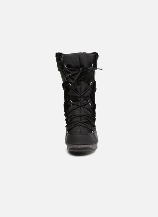 Chaussures de sport Moon Boot Moon Boot Monaco Fur Wp Noir vue portées chaussures