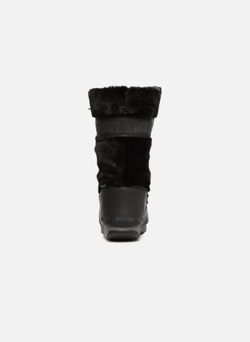 Chaussures de sport Moon Boot Moon Boot Monaco Fur Wp Noir vue droite