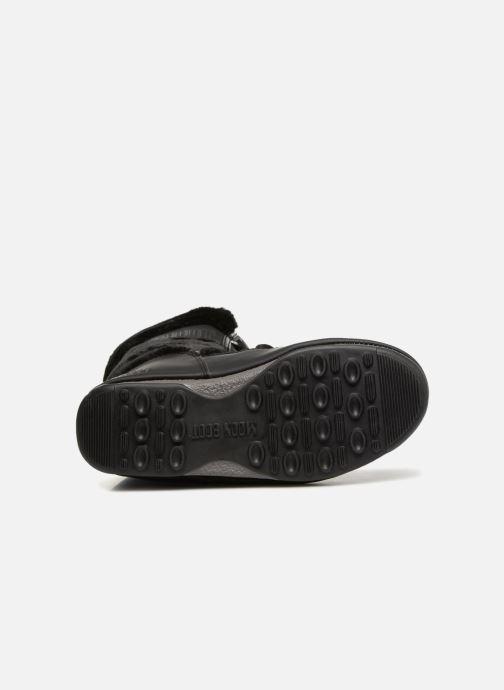 Chaussures de sport Moon Boot Moon Boot Monaco Fur Wp Noir vue haut