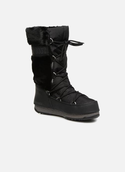 Chaussures de sport Moon Boot Moon Boot Monaco Fur Wp Noir vue détail/paire