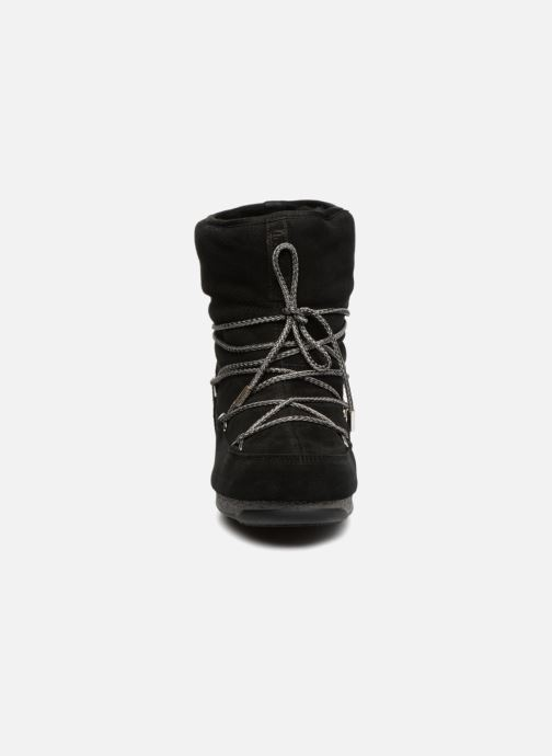 Sport shoes Moon Boot Moon Boot Low Suede Wp Black model view