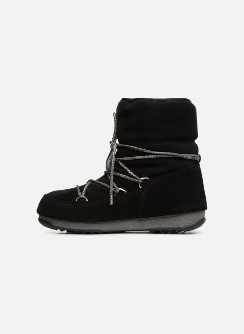 Sport shoes Moon Boot Moon Boot Low Suede Wp Black front view