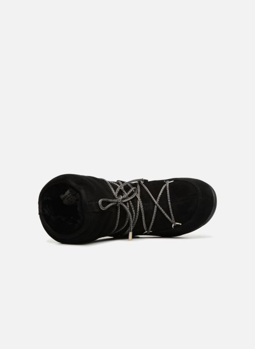 Sport shoes Moon Boot Moon Boot Low Suede Wp Black view from the left