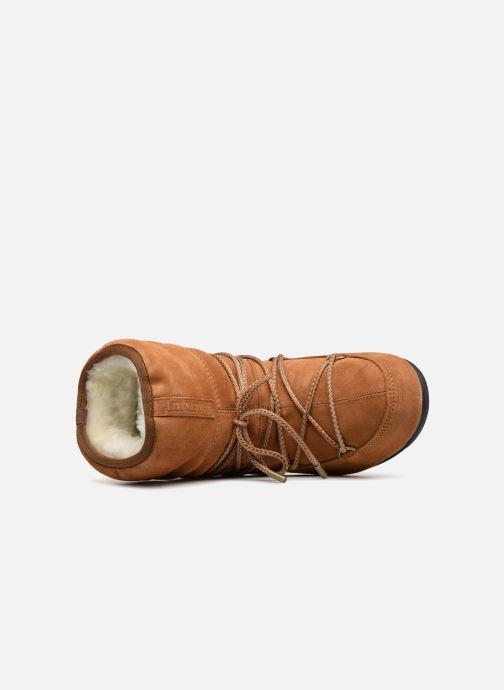 Chaussures de sport Moon Boot Moon Boot Low Suede Wp Marron vue gauche
