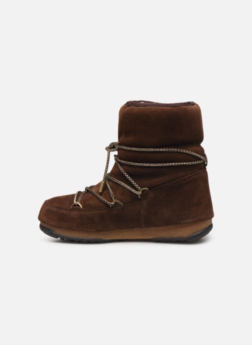 Chaussures de sport Moon Boot Moon Boot Low Suede Wp Marron vue face