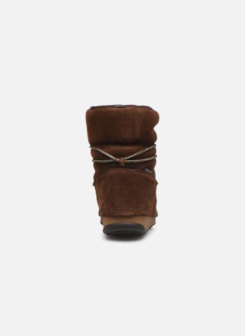 Chaussures de sport Moon Boot Moon Boot Low Suede Wp Marron vue droite
