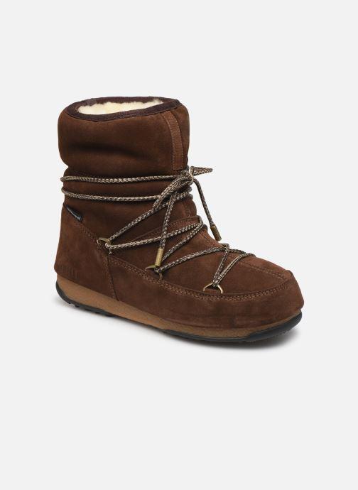 Zapatillas de deporte Moon Boot Moon Boot Low Suede Wp Marrón vista de detalle / par