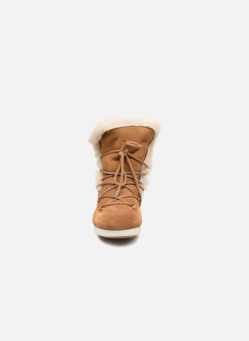 Chaussures de sport Moon Boot Moon Boot Far Side HIigh Shearling Marron vue portées chaussures