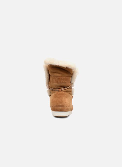 Chaussures de sport Moon Boot Moon Boot Far Side HIigh Shearling Marron vue droite