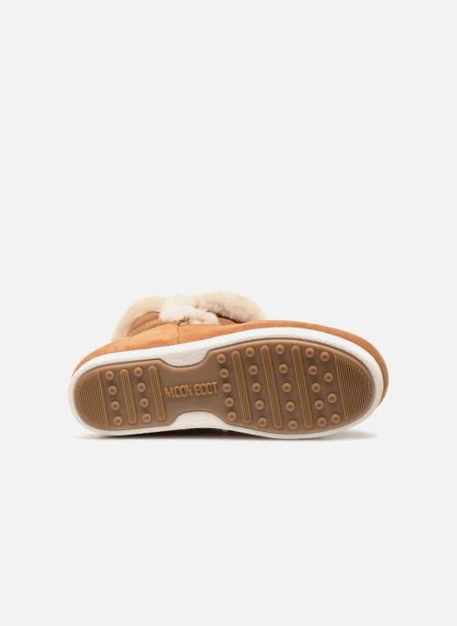 Chaussures de sport Moon Boot Moon Boot Far Side HIigh Shearling Marron vue haut