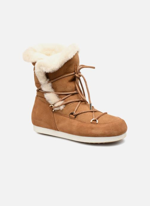 Sport shoes Moon Boot Moon Boot Far Side HIigh Shearling Brown detailed view/ Pair view