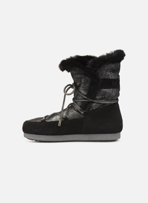 Chaussures de sport Moon Boot Moon Boot Far Side HIigh Shearling Argent vue face