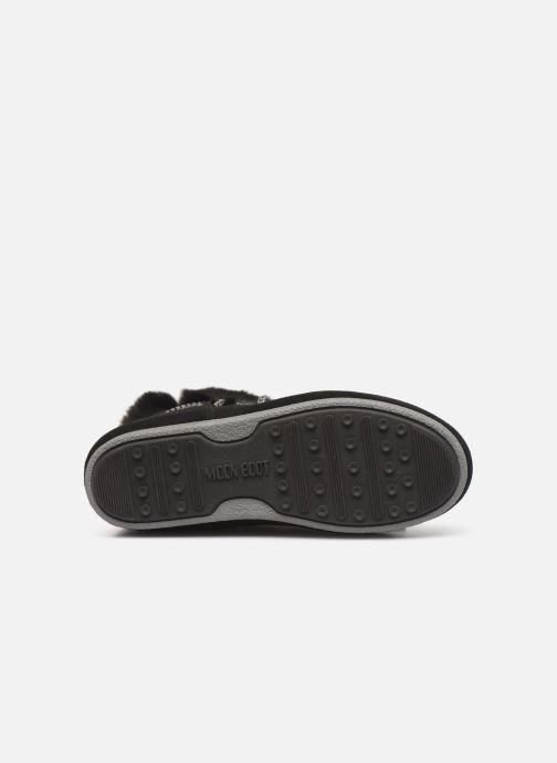 Chaussures de sport Moon Boot Moon Boot Far Side HIigh Shearling Argent vue haut